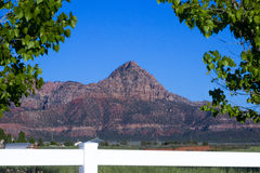Zion Butte Obraz Royalty Free