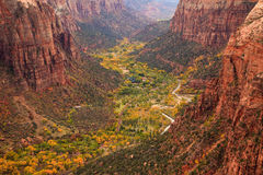 Zion Canton Aerial Vista Stock Photography