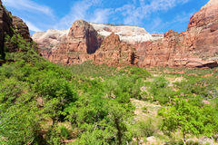 Zion Canyon. View of a canyon inside Zion national park Stock Photos