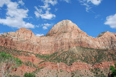 Zion Canyon. Photo of Massive rock at Zion Canyon, Utah, USA Stock Photos