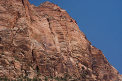 Zion Canyon. Rock formations at Zion Canyon stock photo