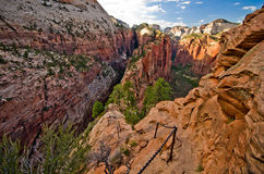 Zion Canyon as seen from Angels Landing at Zion National Park Stock Photos