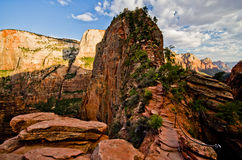 Zion Canyon as seen from Angels Landing at Zion National Park Royalty Free Stock Photography