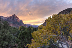 ZIon Canyon Autumn Sunset Royalty Free Stock Photography