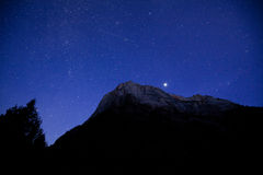 Zion Canyon National Park with Stars Royalty Free Stock Image