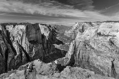 Zion Canyon From Observation Point Stock Image