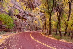 Zion Canyon Road Stock Photography