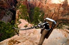 Zion Canyon som sett från änglar som landar på Zion National Park Fotografering för Bildbyråer