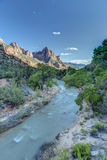 Zion Canyon at Sunset Royalty Free Stock Images