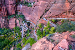 Zion Canyon Switchback Trail Royalty Free Stock Image