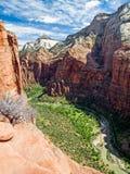 Zion Canyon von der Engels-Landung Stockfotos