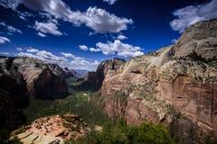 Zion Canyon von der Landung des Engels stockfotografie
