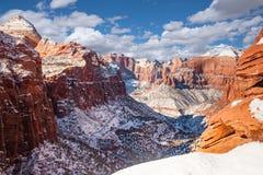Zion Canyon Winter royalty-vrije stock foto
