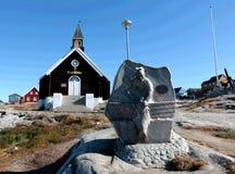 Zion Church Zions Kirke in Ilulissat, Groenland Royalty-vrije Stock Foto's