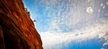 Zion cliff Royalty Free Stock Image