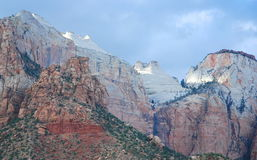 Zion Cliff Formations. The Beehives in soft late day sunlight, captured in Zion National Park in Utah Stock Photography