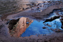 Zion Cliff Reflections Royalty Free Stock Image