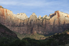 Zion Cliff Utah in Early Morning Light Stock Photography