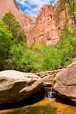 Zion creek stock image