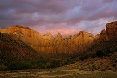 zion d'aube de couleurs Image stock