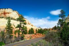 zion de Canyon Road Photos stock