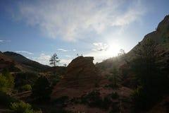 Zion de coucher du soleil Image libre de droits
