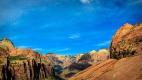Zion doliny widok Zdjęcia Stock