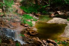 Zion Emerald Pools royalty free stock photo