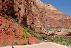 zion för vägg för bergnationalparkUSA utah Fotografering för Bildbyråer