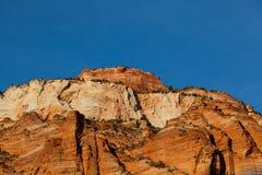 Zion Formation på solnedgången arkivfoton