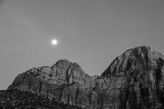 Zion Formations in Black and White Royalty Free Stock Image
