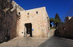 Zion Gate armenisk fjärdedel, Jerusalem Fotografering för Bildbyråer