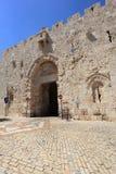 Zion Gate et trous de balle, vieille ville de Jérusalem Photos stock
