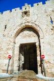 Zion gate in Jerusalem Royalty Free Stock Photo