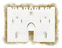 Zion gate, Jerusalem, Old city Israel Stock Image