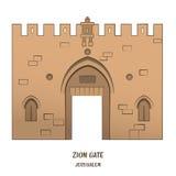 Zion Gate in Jerusalem Royalty Free Stock Image