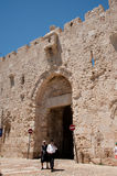 Zion Gate in Jerusalem's Old City Stock Image