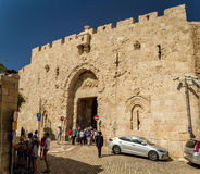 Zion Gate in Old City of Jerusalem, Israel Stock Photos