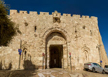 Zion Gate, Oude Stad van Jeruzalem, Israël Stock Fotografie