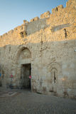 Zion gate, part of the walls of the old city, in Jerusalem Royalty Free Stock Photos