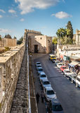 The Zion Gate, view from the wall of the Old City, Jerusalem Royalty Free Stock Photos