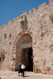 Zion Gatter Jerusalems in der alten Stadt Stockbild