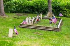 Zion Hill Cemetery Grave Markers Royaltyfri Fotografi