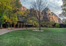 Zion Lodge en Zion National Park foto de archivo libre de regalías