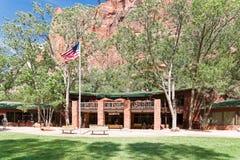 Zion Lodge på Zion National Park Royaltyfria Foton