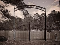 Zion Lutheran Cemetery 1873 Entrance Royalty Free Stock Image