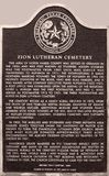 Zion Lutheran Cemetery Historical Marker. Tomball, TX USA - Dec. 27, 2016  -  This cemertery is a TX Landmark and was open in 1873 Royalty Free Stock Photos