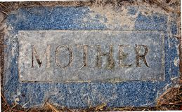 Zion Lutheran Cemetery MOTHER Marker Royalty Free Stock Images