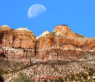 Zion Moon Stock Photography