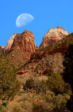 Zion Moon Stock Photos